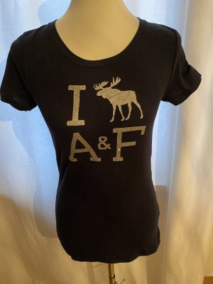 Abercrombie & Fitch Shirt met print donkerblauw-zilver