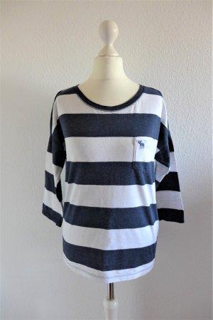 Abercrombie & Fitch Shirt gestreift geringelt weiß blau Gr. S 36