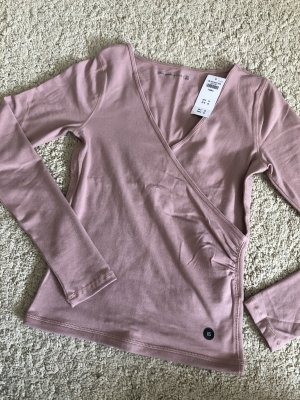 Abercrombie & Fitch Shirt Wickeloberteil Bluse Wickelbluse rosa neu