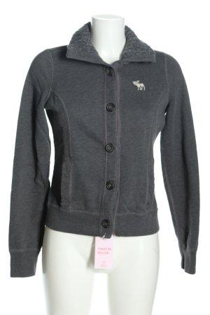 Abercrombie & Fitch Veste chemise gris clair style décontracté