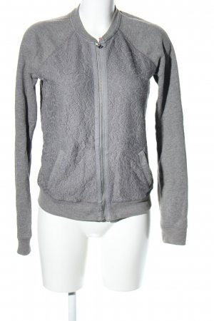 Abercrombie & Fitch Shirtjacke hellgrau Blumenmuster Casual-Look