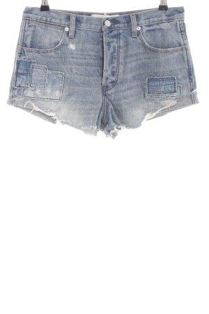 Abercrombie & Fitch Shorts blau-hellgrau Casual-Look