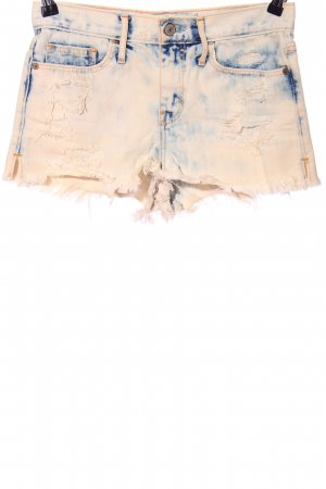 Abercrombie & Fitch Shorts creme-blau Casual-Look