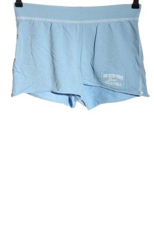 Abercrombie & Fitch Shorts blau-weiß Motivdruck Casual-Look