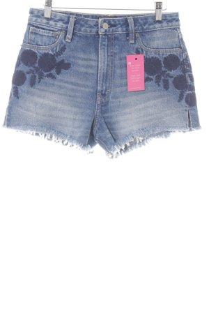 Abercrombie & Fitch Shorts stahlblau Used-Optik