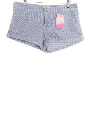 Abercrombie & Fitch Shorts weiß-dunkelblau Logostickerei