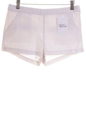 Abercrombie & Fitch Shorts weiß-hellbeige klassischer Stil