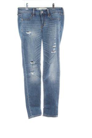 Abercrombie & Fitch Skinny Jeans blau Street-Fashion-Look