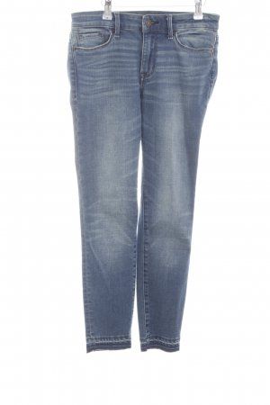 Abercrombie & Fitch Skinny Jeans blau-weiß Casual-Look
