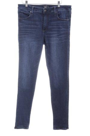 Abercrombie & Fitch Skinny Jeans dunkelblau Washed-Optik