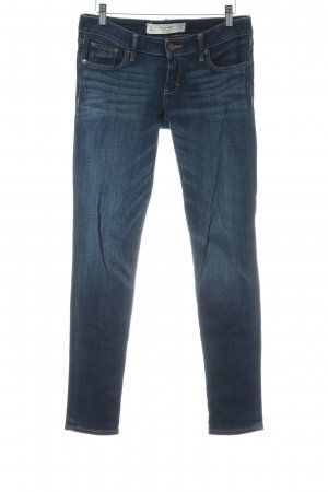 Abercrombie & Fitch Skinny Jeans dunkelblau Washed-Optik