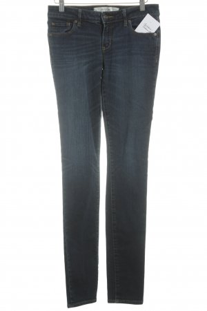 Abercrombie & Fitch Skinny jeans donkerblauw-wolwit casual uitstraling