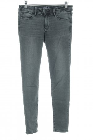 Abercrombie & Fitch Skinny jeans grijs casual uitstraling