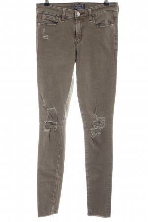 Abercrombie & Fitch Skinny Jeans khaki Casual-Look