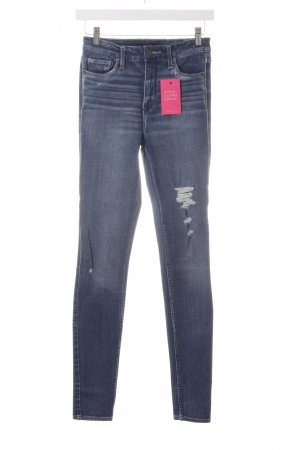 Abercrombie & Fitch Skinny Jeans stahlblau Casual-Look