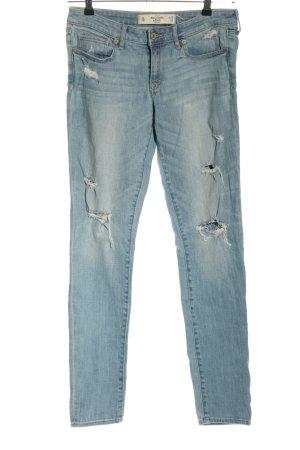 Abercrombie & Fitch Jeans slim fit blu stile casual