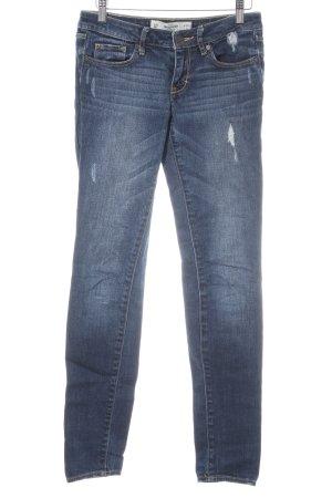 Abercrombie & Fitch Slim Jeans dunkelblau Metallknöpfe