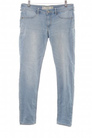 Abercrombie & Fitch Slim Jeans himmelblau Washed-Optik