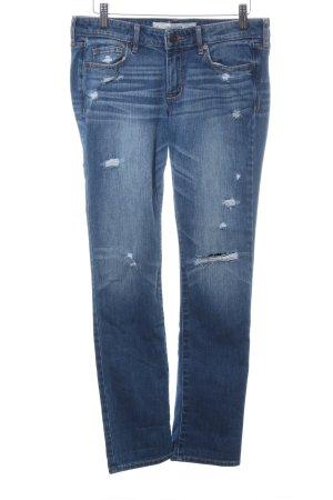 Abercrombie & Fitch Slim Jeans kornblumenblau Vintage-Look