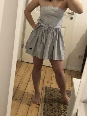 Abercrombie & Fitch Vestido bandeau blanco-azul aciano
