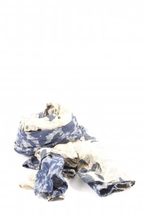 Abercrombie & Fitch Summer Scarf blue-natural white abstract pattern casual look
