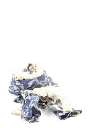 Abercrombie & Fitch Écharpe d'été bleu-blanc cassé motif abstrait