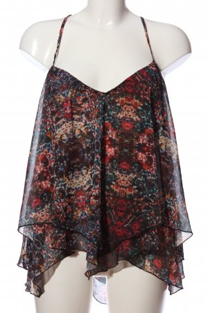 Abercrombie & Fitch Top z cienkimi ramiączkami czarny-czerwony W stylu casual