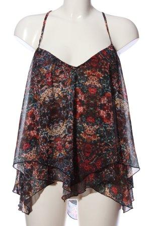 Abercrombie & Fitch Top de tirantes finos negro-rojo look casual