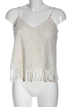 Abercrombie & Fitch Top de tirantes finos blanco puro look casual