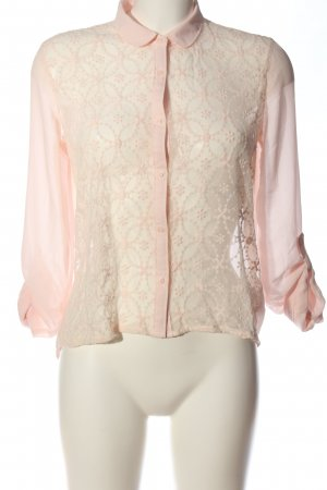 Abercrombie & Fitch Spitzenbluse pink Blumenmuster Business-Look