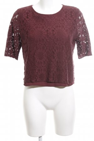 Abercrombie & Fitch Spitzenbluse rot Casual-Look