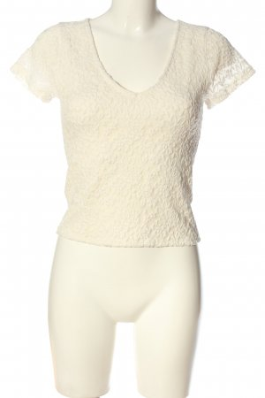 Abercrombie & Fitch Spitzenbluse creme Casual-Look