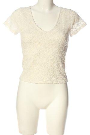 Abercrombie & Fitch Koronkowa bluzka kremowy W stylu casual