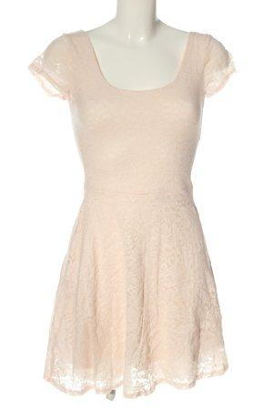 Abercrombie & Fitch Spitzenkleid pink Allover-Druck Casual-Look