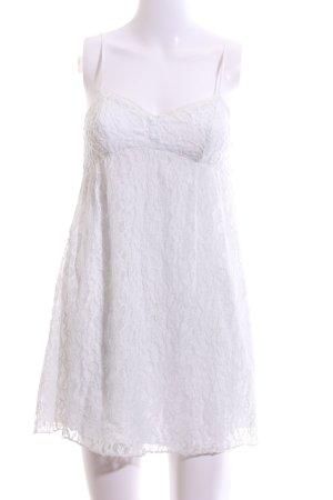 Abercrombie & Fitch Spitzenkleid weiß Blumenmuster Casual-Look