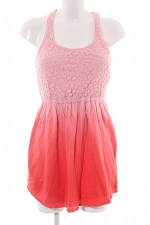Abercrombie & Fitch Spitzenkleid pink-rot Farbverlauf Party-Look