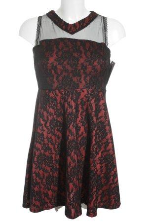 Abercrombie & Fitch Spitzenkleid schwarz-rot Elegant