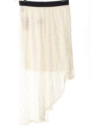 Abercrombie & Fitch Falda de encaje crema elegante