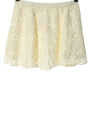 Abercrombie & Fitch Koronkowa spódnica kremowy W stylu casual
