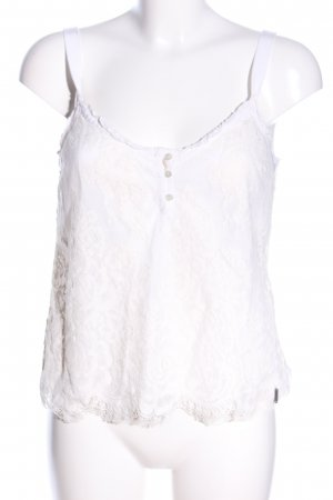 Abercrombie & Fitch Top de encaje blanco estampado floral elegante