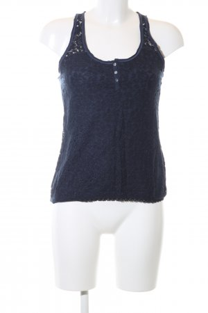 Abercrombie & Fitch Spitzentop blau Casual-Look