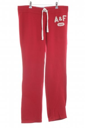 Abercrombie & Fitch Sporthose rot Casual-Look