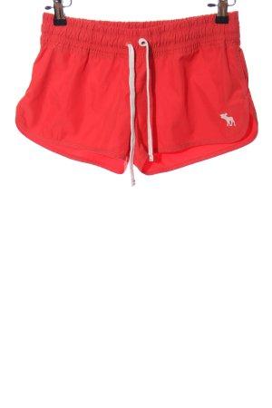 Abercrombie & Fitch Sportshort rood atletische stijl