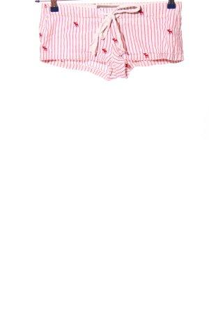Abercrombie & Fitch Sportshorts pink-weiß Motivdruck Casual-Look