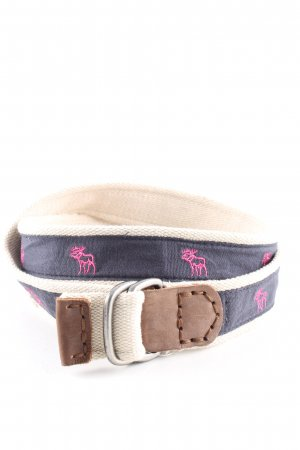 Abercrombie & Fitch Fabric Belt blue-cream casual look