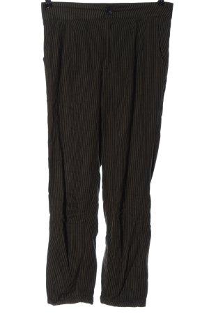 Abercrombie & Fitch Stoffhose schwarz-braun Streifenmuster Elegant