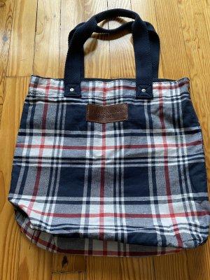 Abercrombie & Fitch Canvas Bag dark blue-magenta