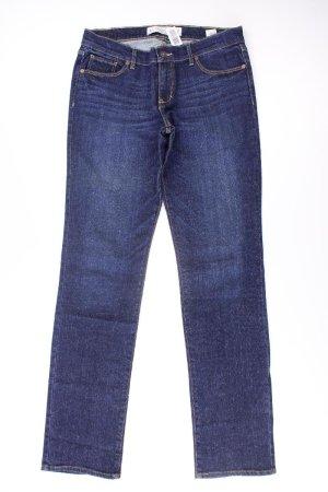 Abercrombie & Fitch Straight Leg Jeans blue-neon blue-dark blue-azure cotton