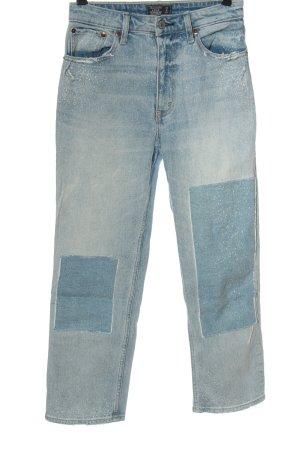 Abercrombie & Fitch Jeansy z prostymi nogawkami niebieski W stylu casual