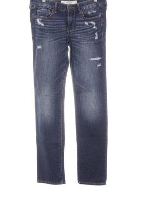 Abercrombie & Fitch Jeansy z prostymi nogawkami ciemnoniebieski